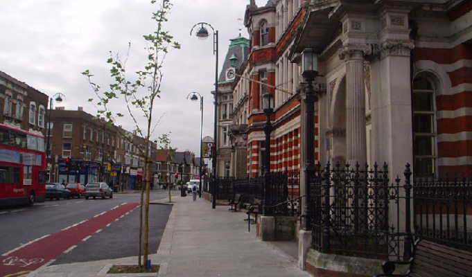 an image of a street in Leyton